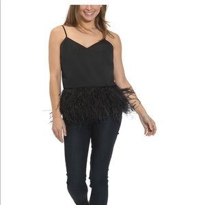 Sail to Sable black feather top